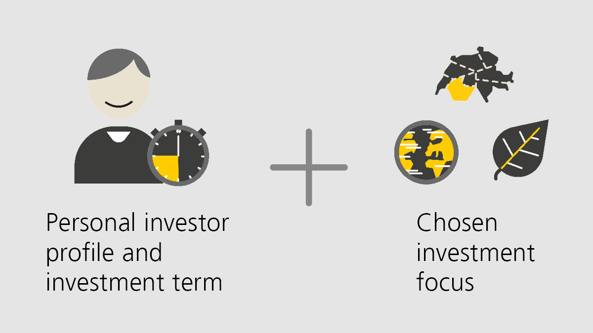 Personal investor profile / investment term and chosen investment focus